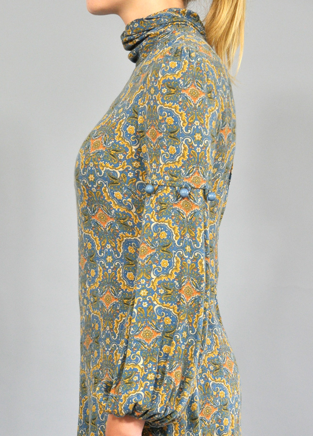 1960s Paisley Tunic Dress, Vintage Paisley Dress, Vintage Dresses and Tops,  Norfolk, Vintage Clothing Online
