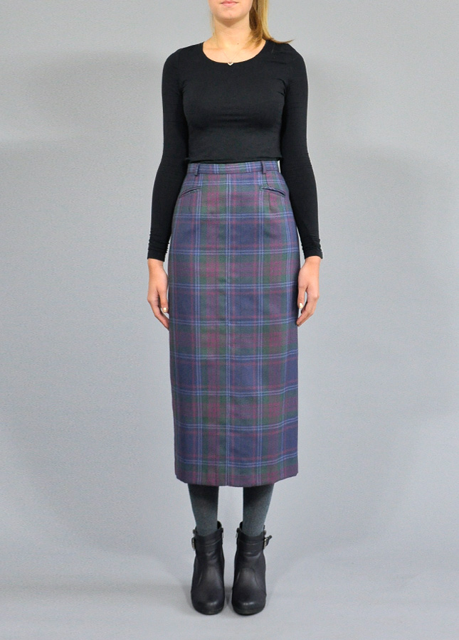 Tartan Checkered Midi Pencil Skirt, Vintage Skirts, Designer Vintage, Norfolk Vintage, Norfolk Stylist, Katy Coe